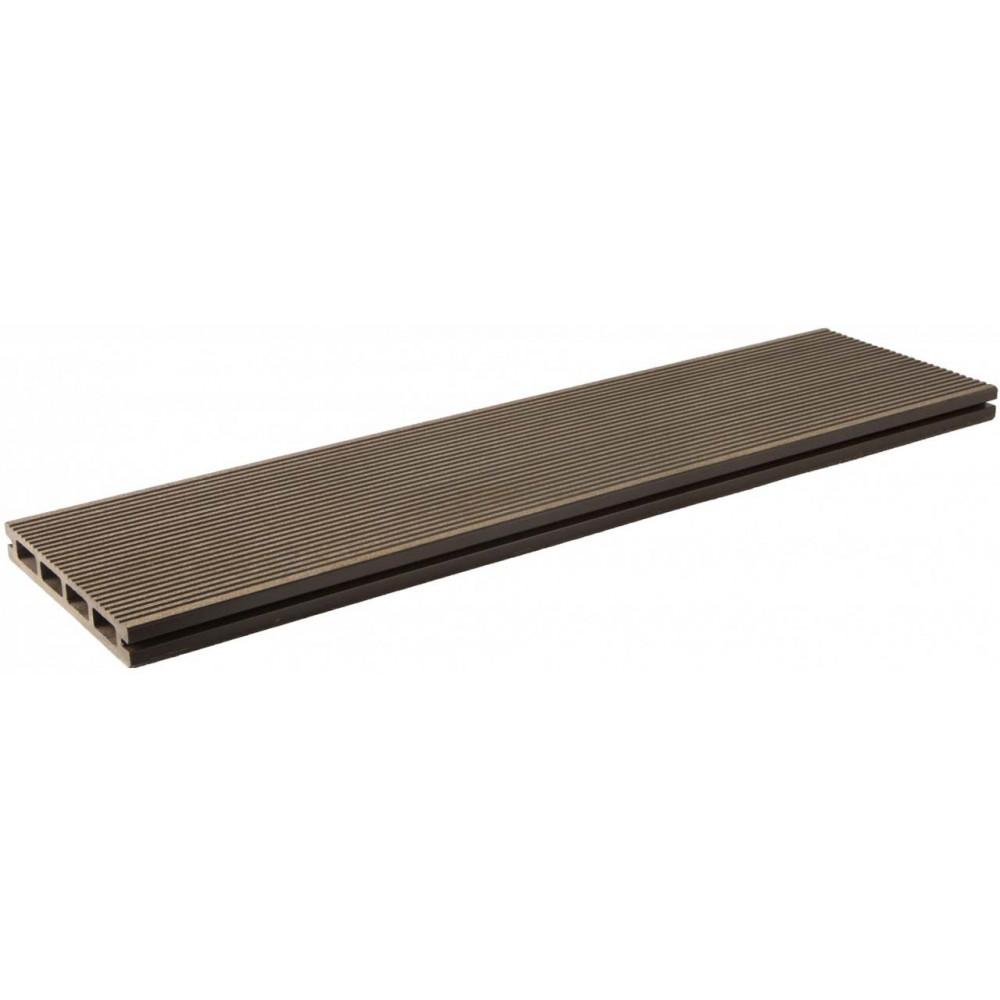 Террасная доска Lite 140х20х3000мм (Шоколад)