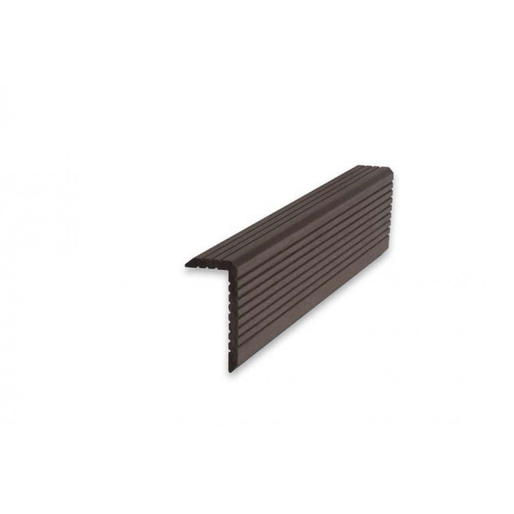 Уголок ДПК, ArtDeco, 35*70*3000 (Темно-коричневый)