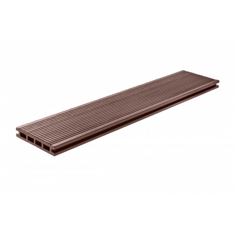 Террасная доска, ArtDeco, Темно-коричневый, Шлифовка + Тиснение (стандарт), 4м.