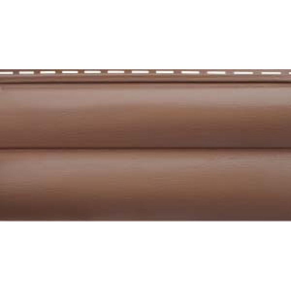 Сайдинг Blockhouse Премиум Красно-коричневый ВН-02