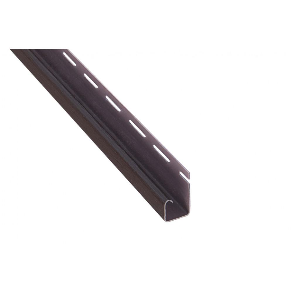 """Планка """"J - trim"""", 3000 мм, цвет Коричневый"""