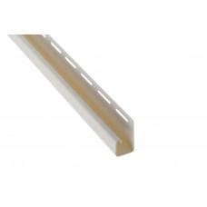 """Планка """"J - trim"""", 3660 мм, цвет Кремовый"""