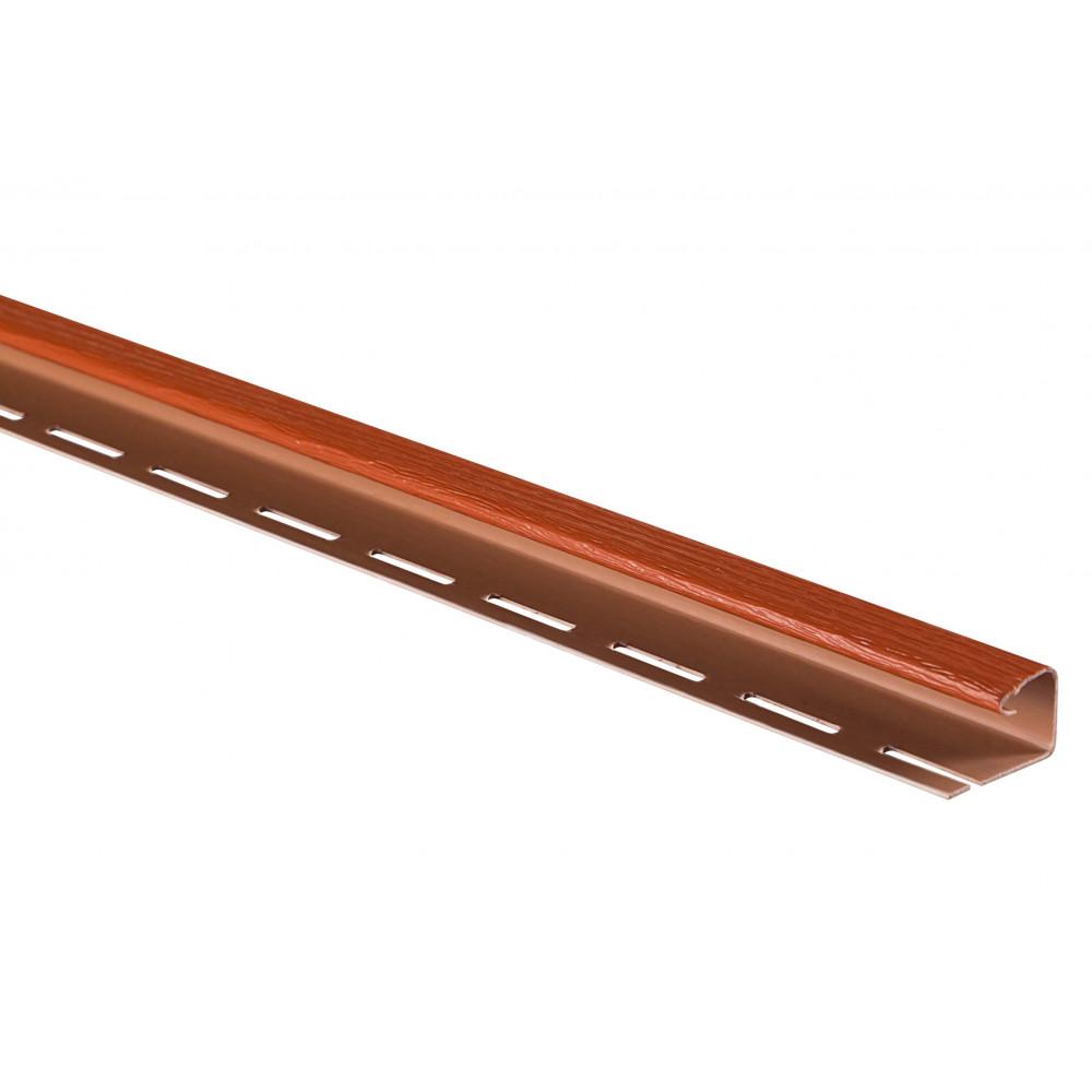 """Планка """"J - trim"""" Кирпичная Т-15 - 3,00м"""