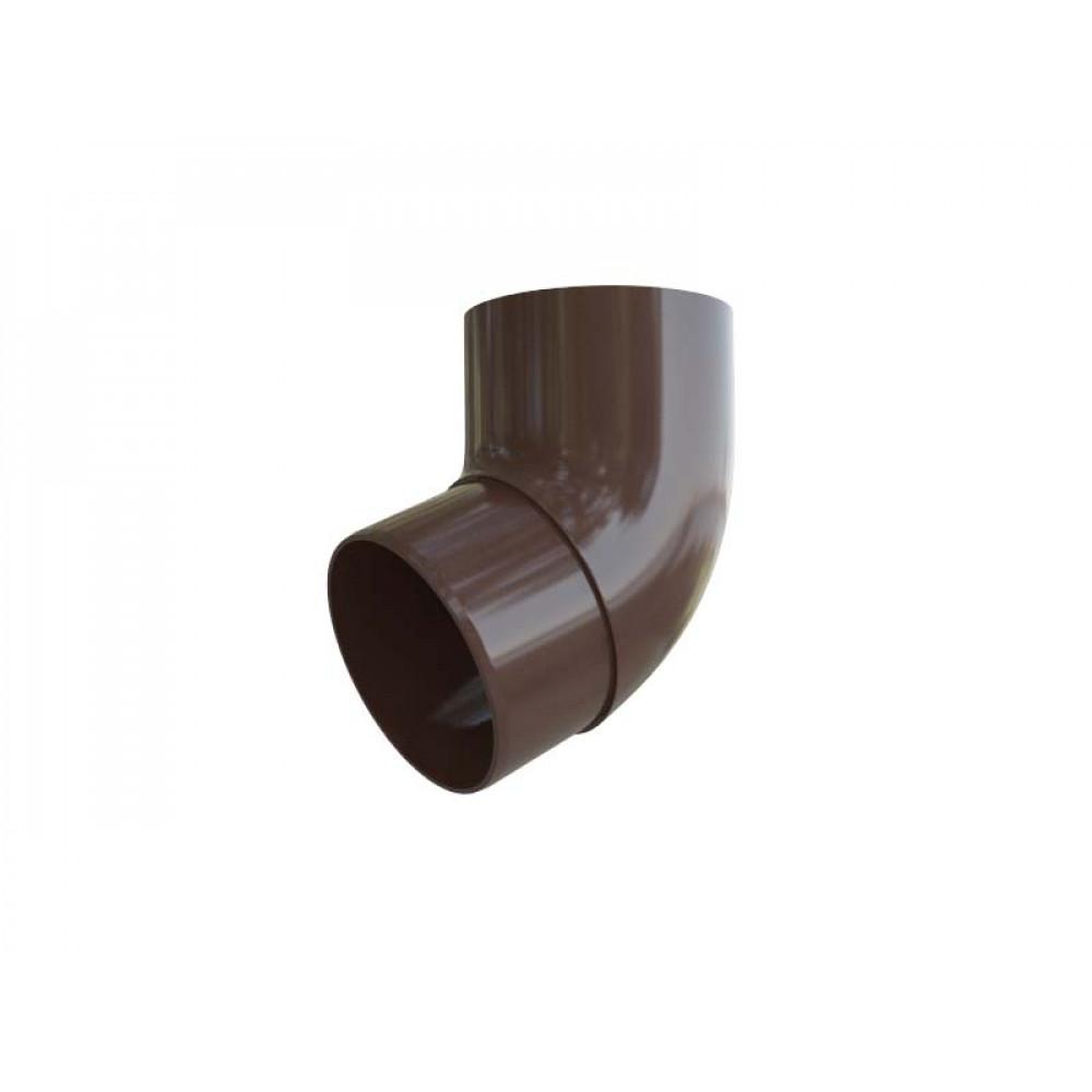Колено трубы 67° ПВХ, цвет Коричневый