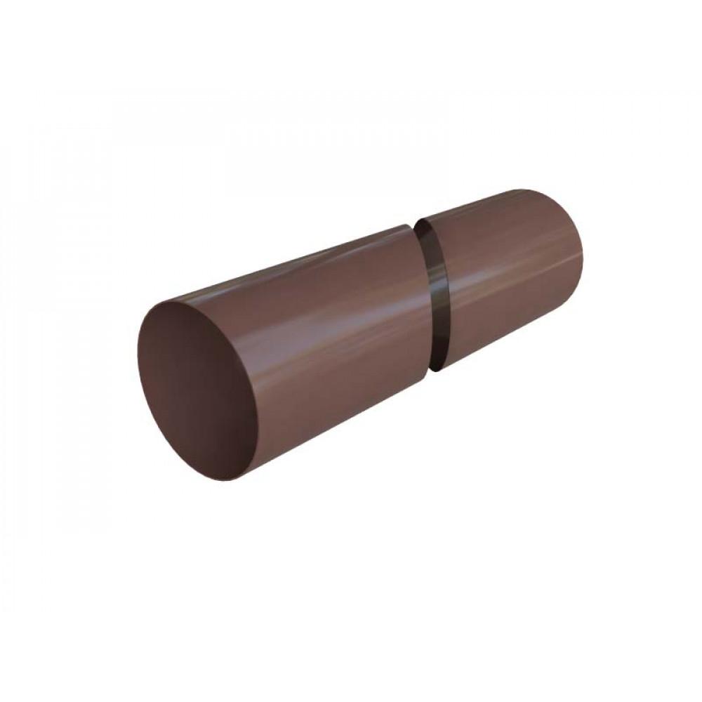 Труба водосточная с муфтой ПВХ, цвет коричневый, длина 4 м