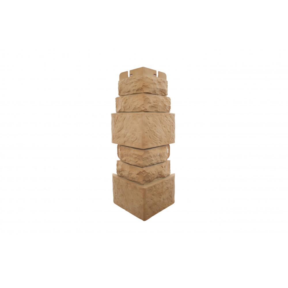 Наружный угол фигурный (Травертин), 0,45 х 0,16м