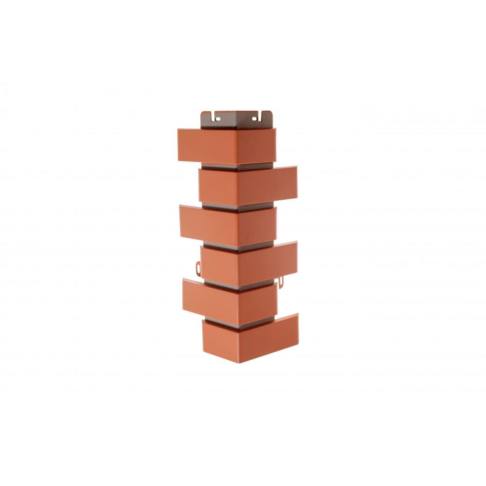 Наружный угол кирпич клинкерный (красный), 0,45 х 0,16м