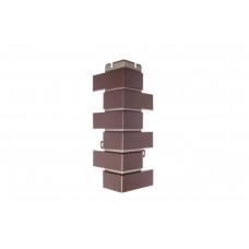 Наружный угол кирпич клинкерный (шоколад), 0,45 х 0,16м
