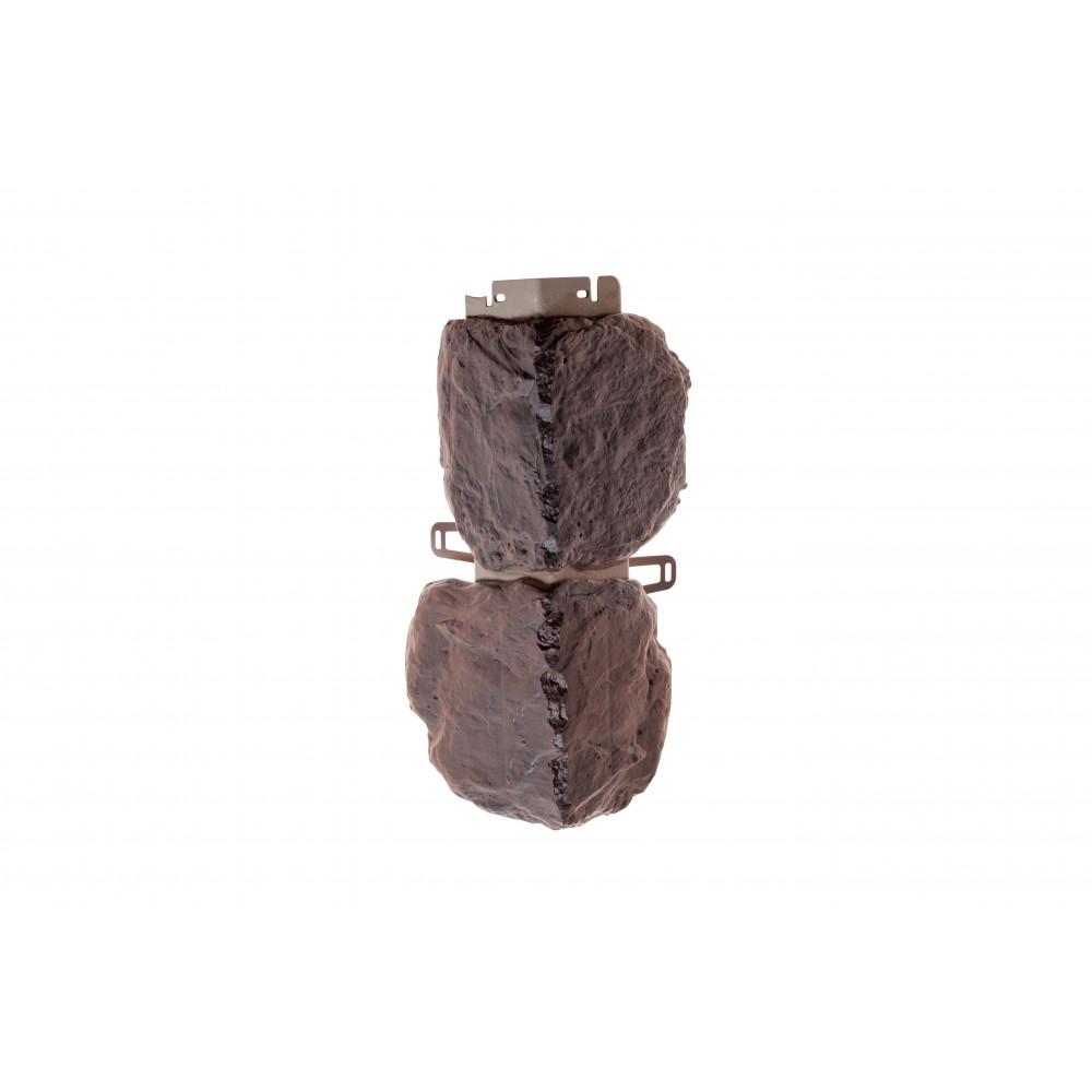 Наружный угол бутовый камень (датский), 0,44 х 0,18м (н)