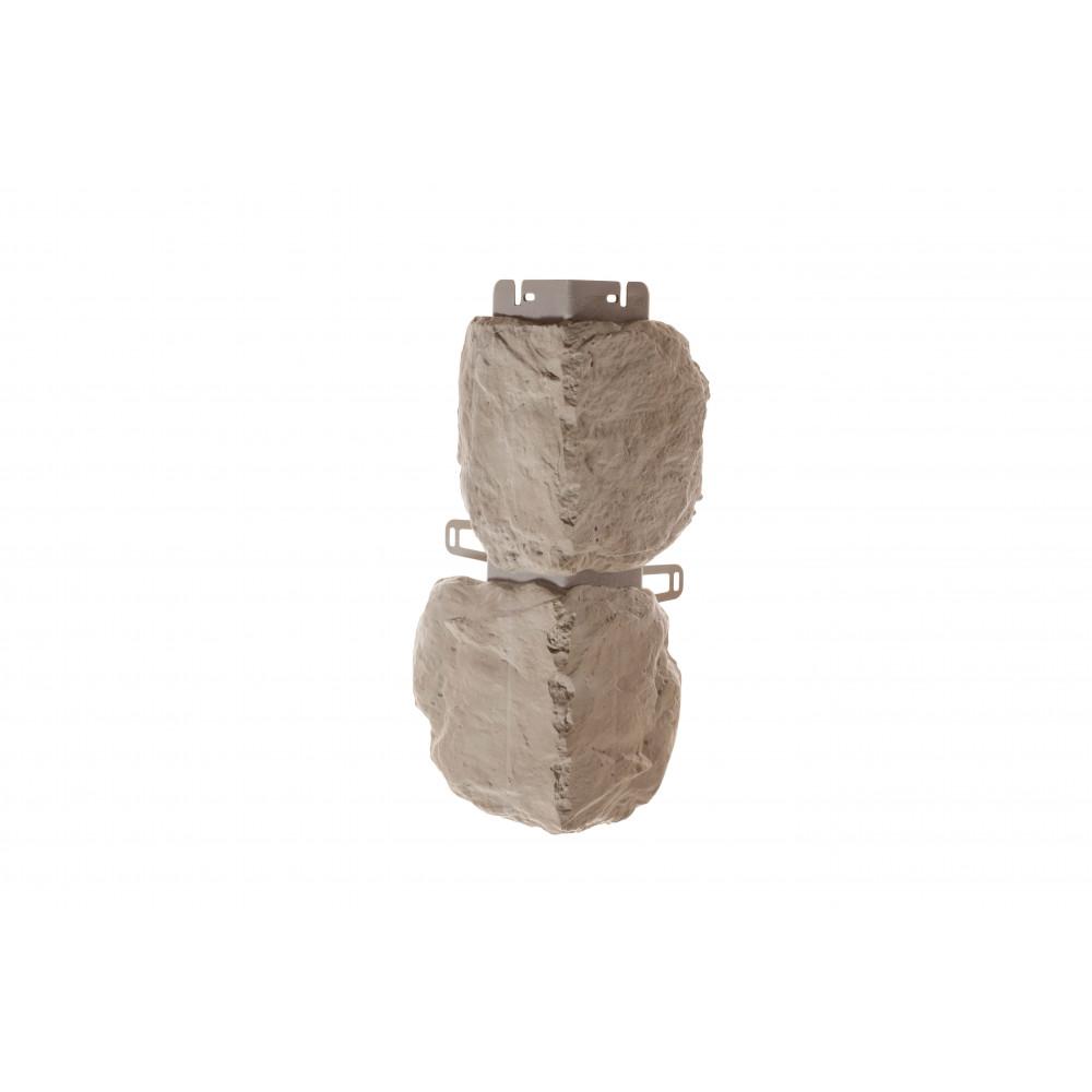 Наружный угол бутовый камень (нормандский), 0,44 х 0,18м (н)
